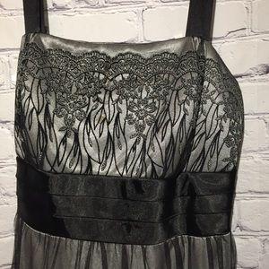 R&M Richards black/silver lacy dress Sz 16W